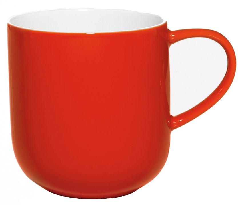 Чашка Asa Selection Coppa, 410 мл, цвет: красный. 19100/06919100/069Чашка фарфоровая двухцветная COPPA. Объем: 0,41 литра. Материал: костяной фарфор. Цвет: красный.
