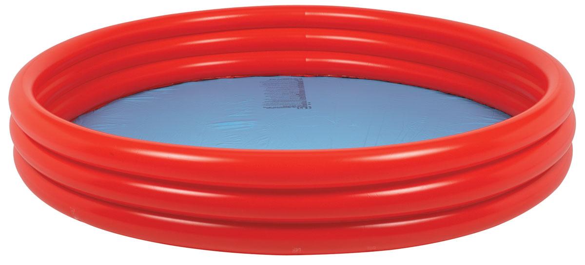 Бассейн надувной Jilong Plain Pool, детский, цвет: голубой, красный, 157 х 157 х 25 смJL010304-1NPF_голубой, красныйДетский надувной бассейн Jilong Plain Pool будет просто незаменим в летний жаркий день на даче. Бассейн круглой формы выполнен из прочного ПВХ. Упругие стенки бассейна представляют собой три прочных кольца. Яркий дизайн бассейна сделает его не только незаменимым атрибутом летнего отдыха, но и дополнением ландшафтного дизайна участка. Рекомендуемый возраст: 3-6 лет. Рекомендуемый вес пользователя: 15-30 кг. Обращаем ваше внимание на тот факт, что бассейн поставляется в сдутом виде и надувается при помощи насоса (не входит в комплект). Диаметр: 157 см. Высота: 25 см. Объем бассейна: 300 л.