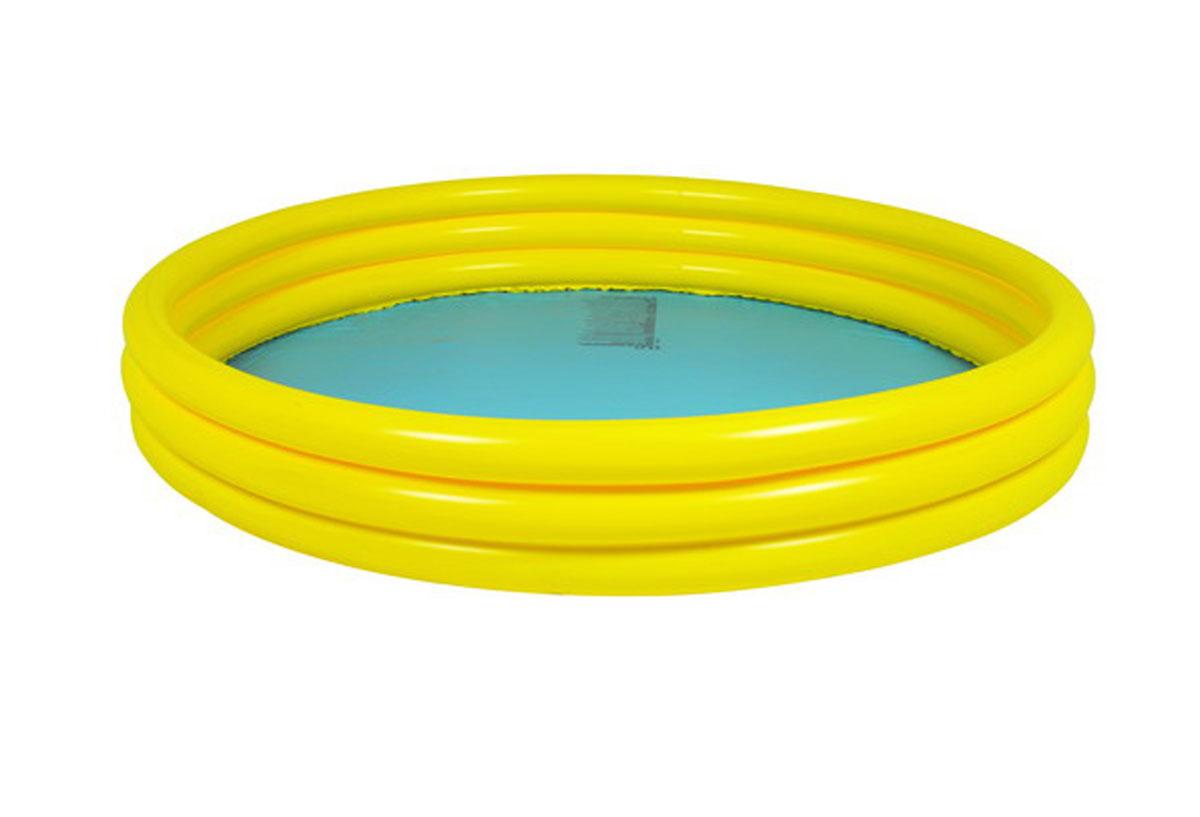 Бассейн надувной Jilong Plain, цвет: голубой, желтый, 99 х 99 х 23 смJL010302NPFНадувной бассейн Plain будет просто незаменим в летний жаркий день на даче. Бассейн круглой формы выполнен из прочного ПВХ. Упругие стенки бассейна представляют собой три прочных кольца. Яркий дизайн бассейна сделает его не только незаменимым атрибутом летнего отдыха, но и дополнением ландшафтного дизайна участка. Рекомендуемый возраст: 2-6 лет. Обращаем ваше внимание на тот факт, что бассейн поставляется в сдутом виде и надувается при помощи насоса (не входит в комплект). Диаметр: 99 см.