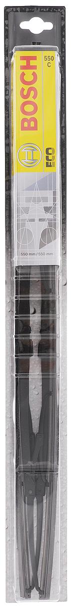"""Щетки стеклоочистителя Bosch """"Eco 550C"""", каркасная, 550 мм, 2 шт 3397005032"""