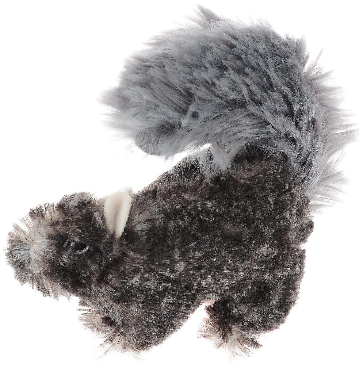 Игрушка для собак GiGwi Белка, с пищалкой, цвет: серый, высота 13 см75308_серыйИгрушка для собак GiGwi Белка порадует вашу собаку и доставит ей море веселья. Несмотря на большое количество материалов, большинство собак для игры выбирают классические плюшевые игрушки. Такие игрушки можно носить, уютно прижиматься во сне, жевать. Некоторые собаки просто любят взять в зубы игрушку и ходить с ней повсюду. Мягкие игрушки сохраняют запах питомца, поэтому он каждый раз к ней возвращается. Милые, мягкие и приятные зверушки характеризуются высоким качеством исполнения и привлекательным дизайном. Внутри игрушки нет наполнителя, что поможет сохранить чистоту в помещении. Игрушка снабжена пищалкой, которая привлекает внимание животного.