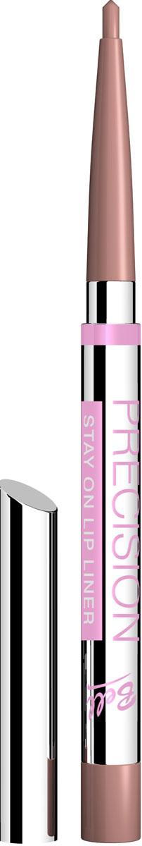 Bell Карандаш для губ Устойчивый Precision Lip Liner 4 грB5kuP007Автоматически, точно, идеально! Precision это изысканная коллекция автоматических контурных карандашей для макияжа глаз и губ. Нанесение точного контура теперь стало необычайно простым! Результат - идеальный устойчивый макияж, ошеломляющий своей красотой и чувственностью! Для четких, мягких линий, эффектного макияжа и ровного стойкого результата! Особенности состава: Инновационные полимеры, входящие в состав, обеспечивают особую эластичность грифеля, что гарантирует точность и устойчивость нанесенных линий. Входящий в состав ланолин и специальный растительный воск ухаживает за нежной кожей губ, а силиконовые микрошарики гарантируют мягкое и комфортное нанесение. Способ применения: Выкрутить грифель на необходимую длину, обвести контур губ. Также можно растушевать на всю поверхность губ для того, чтобы цвет помады держался дольше