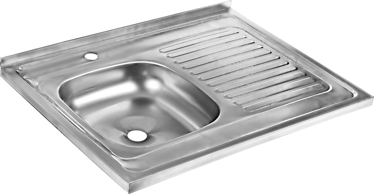 Мойка накладная Betanox, с правым крылом, 80 х 60 см80501Накладная мойка Betanox выполнена из высококачественной нержавеющей стали. Изделие оснащено правым крылом, на котором можно разместить посуду, чтобы с нее стекала вода. Сифон и крепеж не входят в комплект. Толщина стали: 0,6 мм.
