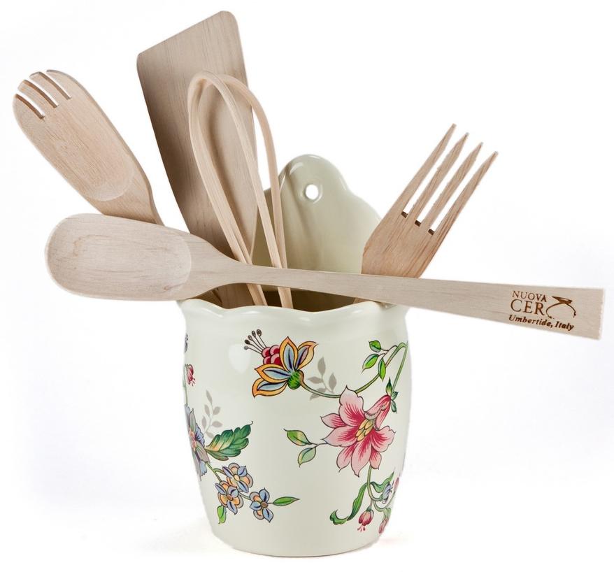 Набор кухонных инструментов Nuova Cer ПровансPRV-7414Емкость настенная с кухонными инструментами Прованс