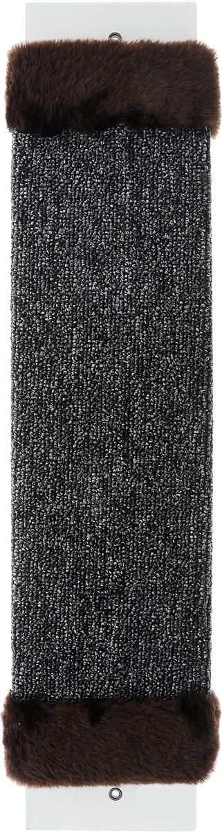 Когтеточка ЗооМарк, настенная, цвет: темно-коричневый, темно-серый, 57 х 13 х 3,5 см0120710Настенная когтеточка ЗооМарк предназначена для стачивания когтей вашей кошки и предотвращения их врастания. Волокна ковролина обеспечивают естественный уход за когтями питомца. Когтеточка позволяет сохранить неповрежденными мебель и другие предметы интерьера.Длина когтеточки: 57 см.Длина рабочей части: 48 см.