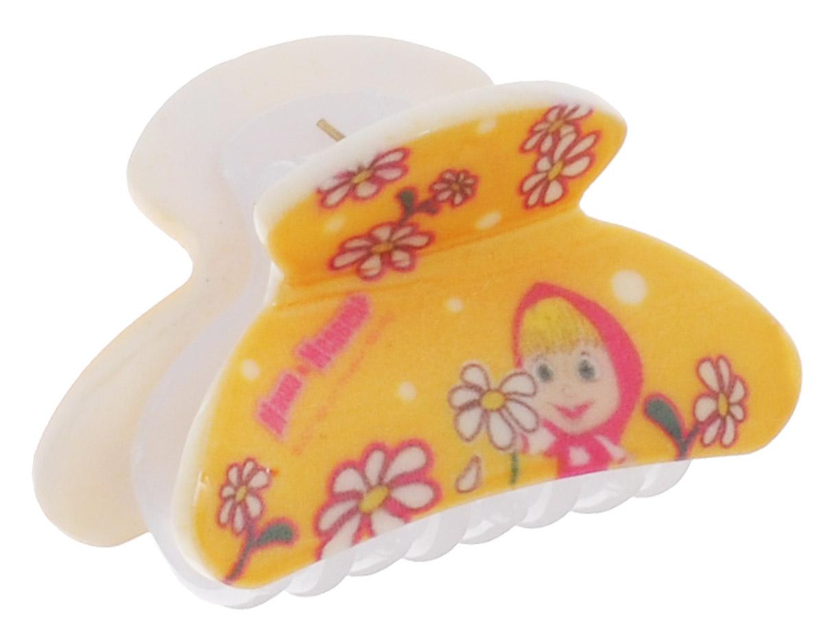 Маша и Медведь Заколка-краб для волос Ромашки цвет желтыйMP59.3DЗаколка-краб для волос Маша и Медведь Ромашки выполнена из качественного пластика желтого цвета с надежным зажимным механизмом.Заколка декорирована ромашками и изображением главной героини мультфильма Маша и Медведь. Оригинальность и удобство заколки-краба для волос делают ее практичным и модным аксессуаром.