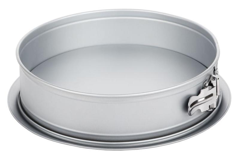 Форма для выпечки Walmer Silver, разъемная, с увеличенным дном, диаметр 26 см94672Разъемная форма для выпечки Walmer Silver, выполненная из высококачественной углеродистой стали, гарантирует великолепный результат. Материал корпуса обеспечивает максимальную теплоотдачу, экономя время приготовления. Двухслойное антипригарное покрытие Xynflon полностью безопасно и не выделяет вредных веществ при нагреве. Изделие оснащено разъемным механизмом, благодаря которому готовое блюдо очень легко вынимать. Можно мыть в посудомоечной машине.
