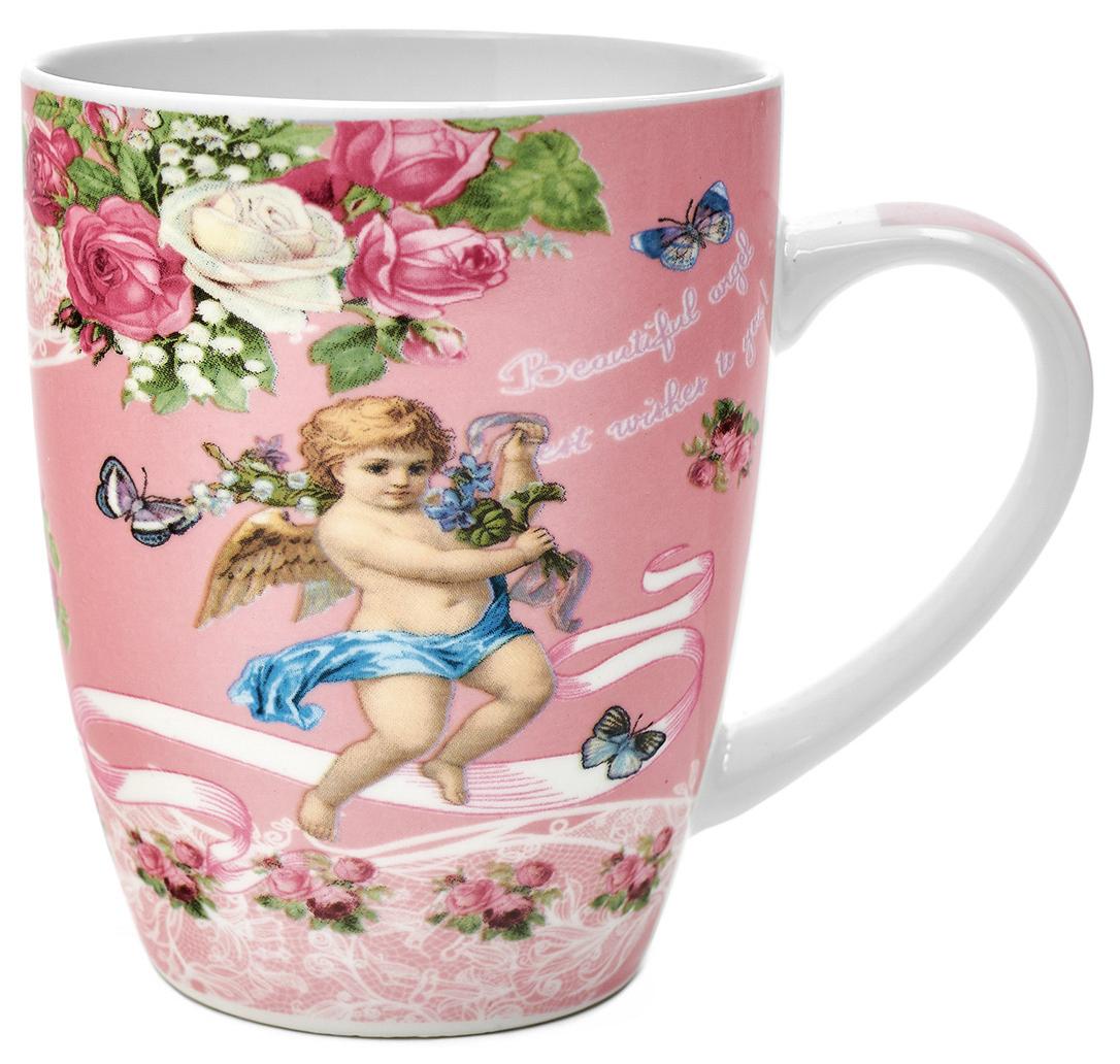 Кружка Walmer Angels, цвет: розовый, 340 млW16061034Кружка Walmer Angels, выполненная из костяного фарфора, станет отличным тематическим сувениром на День Ангела или крещение ребенка. Такой подарок будет напоминать о радостном событии долгие годы. Изделие дополнено эргономичной ручкой. Такой подарок не только порадует своей практичностью, но и станет приятным сувениром для ваших близких. А оригинальное оформление кружки добавит ярких эмоций.