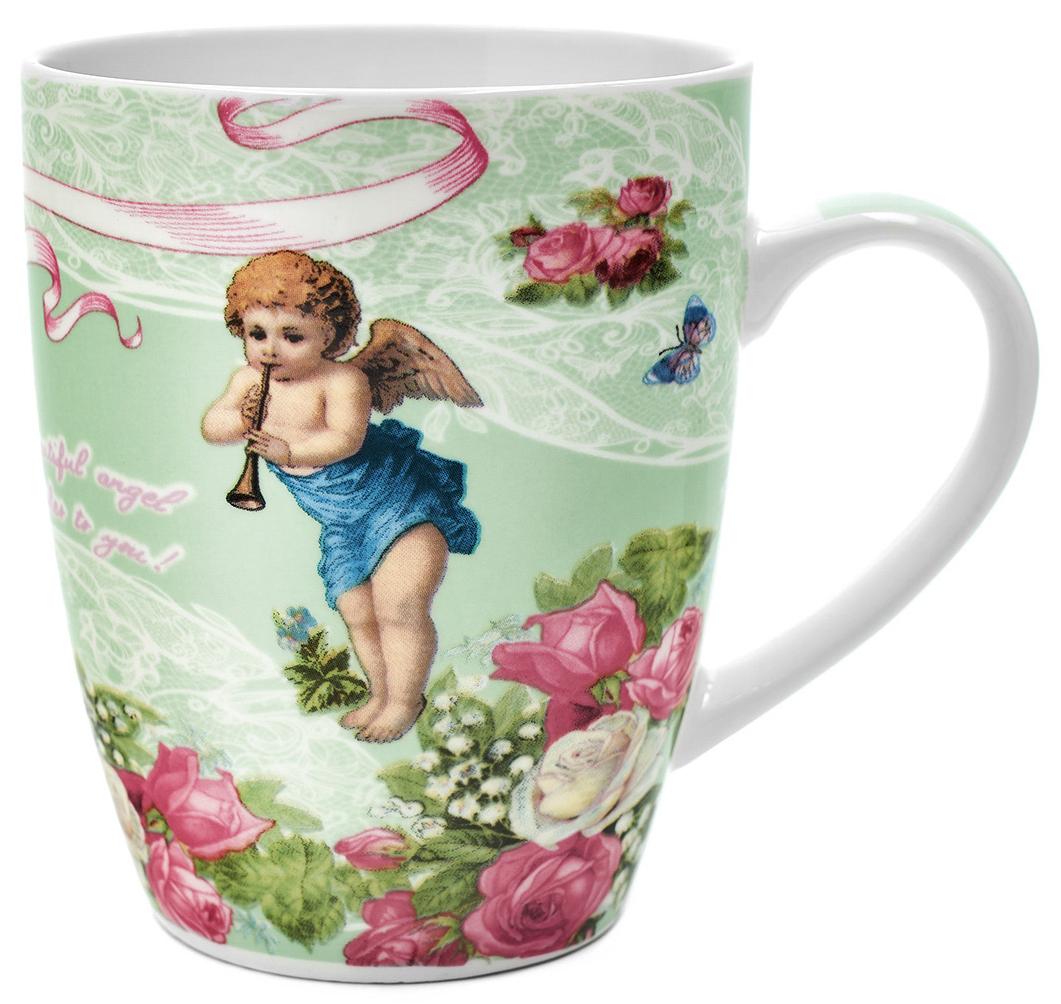 Кружка Walmer Angels, цвет: салатовый, 340 млW16071034Кружка Walmer Angels, выполненная из костяного фарфора, станет отличным тематическим сувениром на День Ангела или крещение ребенка. Такой подарок будет напоминать о радостном событии долгие годы. Изделие дополнено эргономичной ручкой. Такой подарок не только порадует своей практичностью, но и станет приятным сувениром для ваших близких. А оригинальное оформление кружки добавит ярких эмоций.