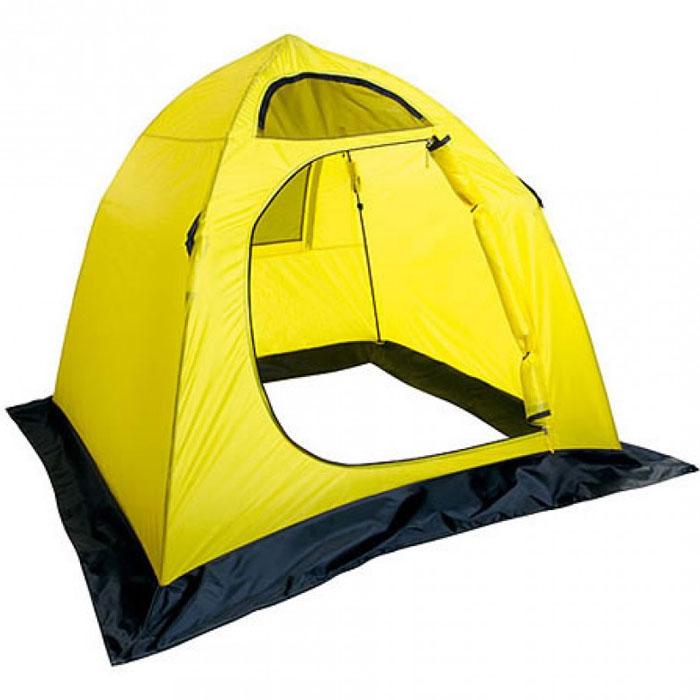 Палатка Holiday Easy Ice 210см х 210см YellowH-10461Четырехугольная палатка Holiday Easy Ice создана специально для любителей зимней рыбалки. Конструкция не перегружена лишними приспособлениями, что позволяет максимально облегчить вес и уменьшить ее стоимость. Каркас изготовлен из трубчатого стекловолокна с диаметром 8 мм, что делает палатку устойчивой при сильном ветре. В комплект входят крючки, с помощью которых происходит крепление укрытия за края недосверленных лунок, и сумка-чехол для удобной транспортировки. Снегозащитная юбка по всему периметру палатки предотвратит проникновение влаги внутрь. Характеристики: Материал : 190T нейлон с PU покрытием. Размер палатки: 210 см х 210 см. Высота: 160 см. Водонепроницаемость: 600 мм. Диаметр каркаса: 0,8 см. Размер упаковки: 115 см х 14 см х 14 см.
