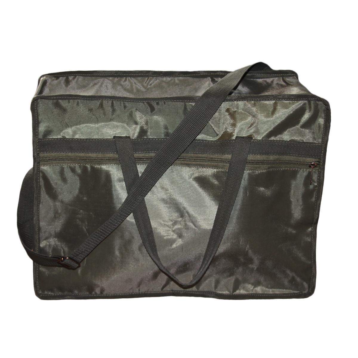 Сумка универсальная для мангалов, 40х30х18 см, цвет: темно-зеленыйС-УСумка хорошо подходит для переноски мангалов, для походов на пикник. Непромокаемая ткань, удобные ручки, карман на молнии. Размер: 40х30х18 см.