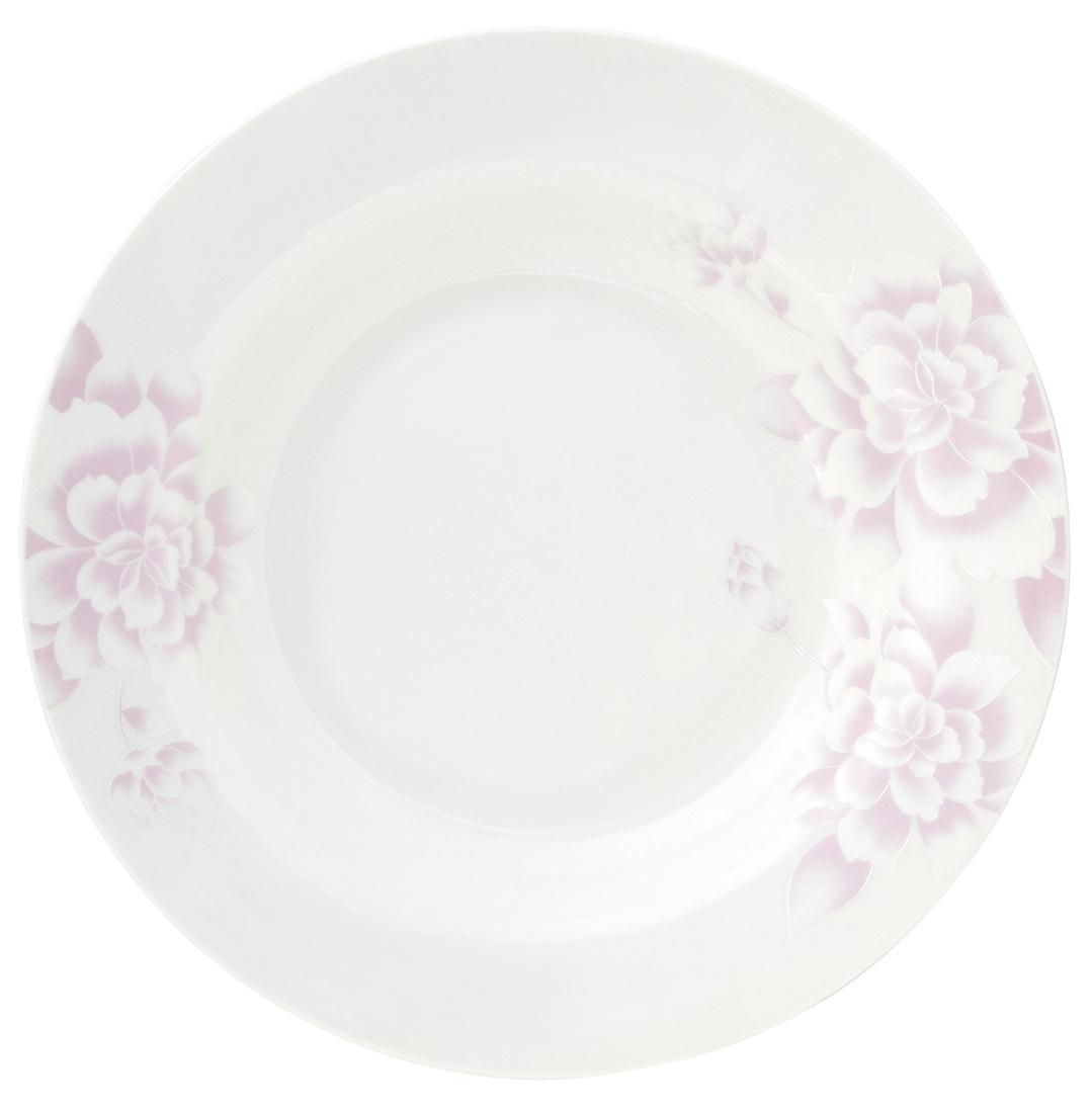 Набор суповых тарелок Esprado Peonies, диаметр 23 см, 6 штPEO023PE301Тарелка суповая, 23 см, костяной фарфор, Peonies, Esprado, PEO023PE302