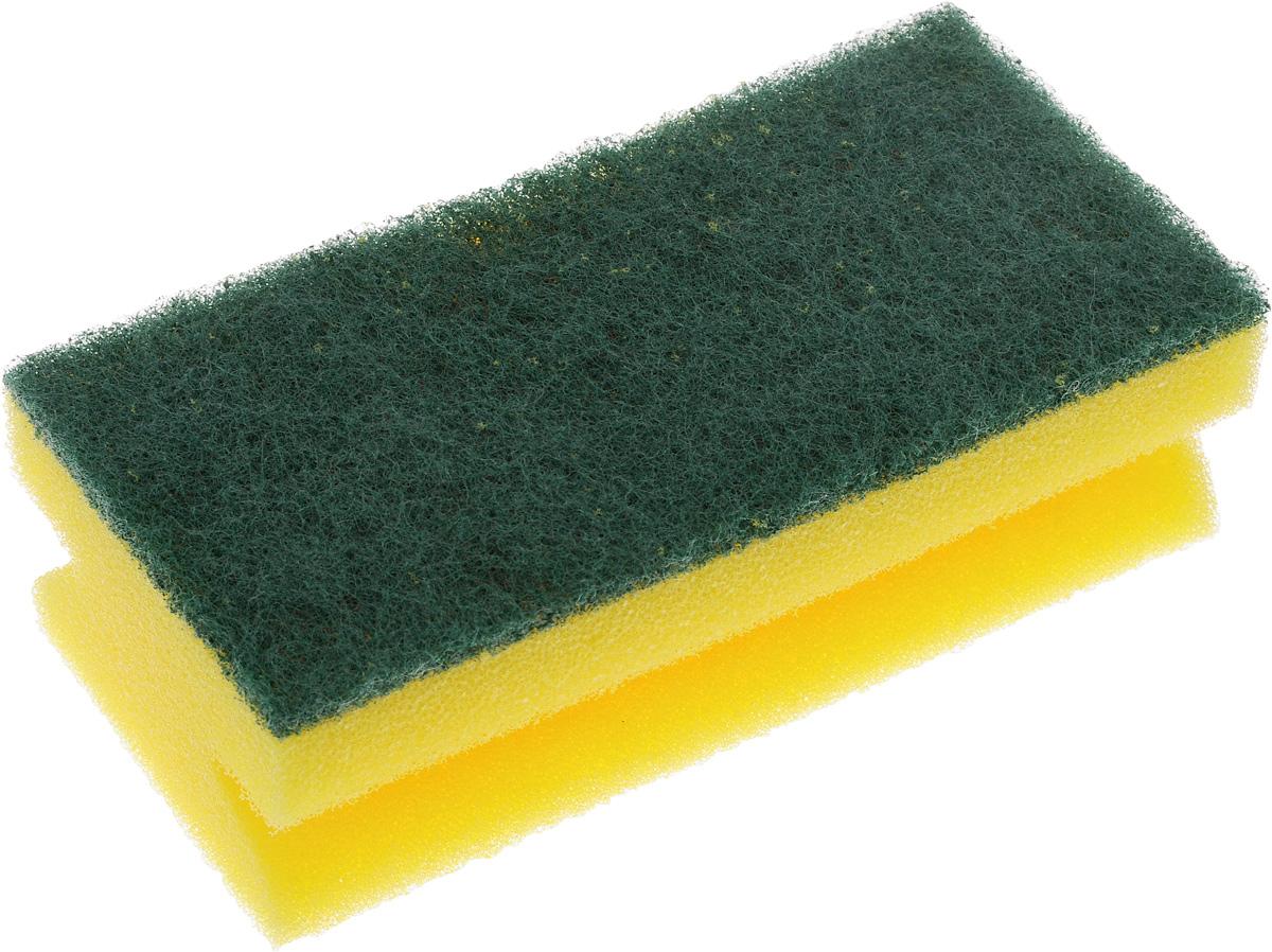 Губка для уборки Paterra Aktiv, 13 х 6,5 х 4,4 смES-412Губка для уборки Paterra Aktiv предназначена для уборки помещений и сантехники. Не подходит для деликатных поверхностей (стеклокерамики и акрила). Поролон повышенной плотности, из которого состоит губка, не деформируется и не крошится при нагрузках, обеспечивает обильную пену при минимальном расходе моющего средства. Прочный абразивный материал не загрязняется в процессе использования, отлично вымывается водой. Губка отлично справляется со стойкими следами грязи, застарелыми пятнами и известковым налетом. Губка имеет специальный клеевой шов, не позволяющий абразивному слою и поролону отслаиваться в процессе использования. Боковые вырезы сохраняют маникюр и обеспечивают удобный захват рукой. Губка служит в 2-2,5 раза дольше за счет поролона повышенной жесткости и абразива высокого качества.