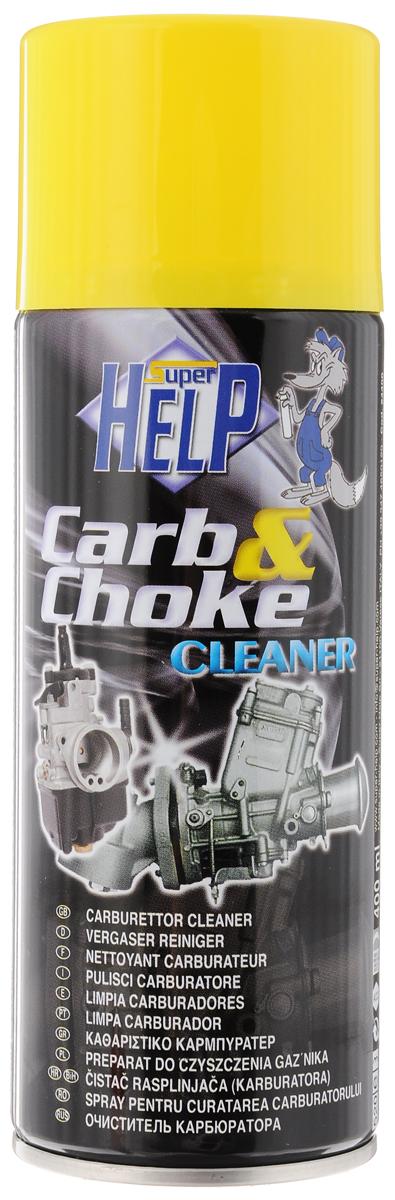 Очиститель карбюратора SuperHelp, 400 мл24400Очиститель карбюратора SuperHelp эффективно очищает от всевозможных загрязнений и отложений детали карбюратора. Отличное средство для промывки дроссельной механики и внешних поверхностей карбюратора без демонтажа. Использовать только на холодном двигателе. Товар сертифицирован.