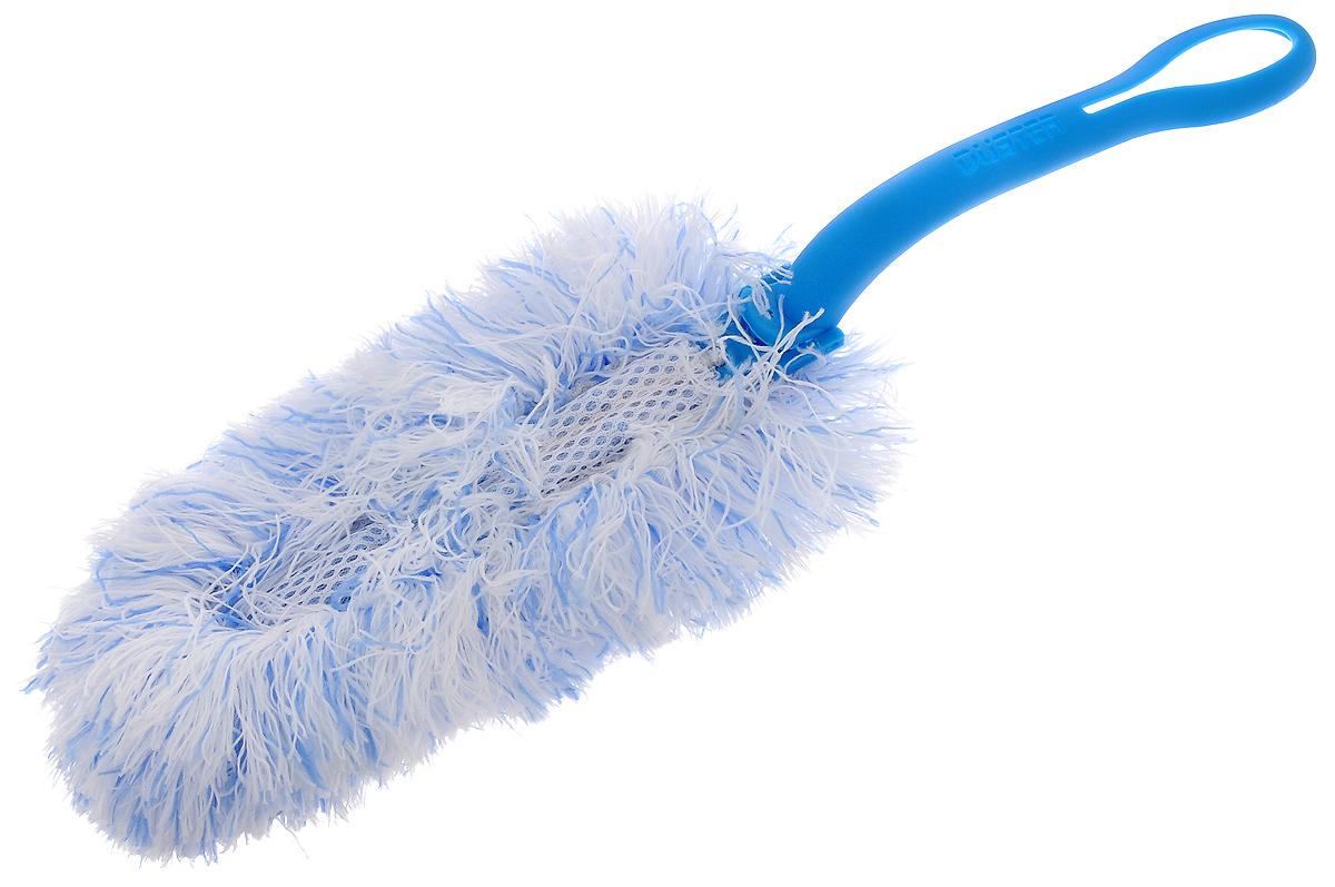Щетка для удаления пыли Paterra, со съемной насадкой, цвет: голубой, белый, длина 34 см406-091Щетка Paterra выполнена из высококачественной микрофибры и оснащена складывающейся пластиковой ручкой. Отлично удаляет пыль. Ворсинки, как магниты, притягивают и надежно удерживают частички грязи. Щетка Paterra станет верной помощницей в домашних делах. Длина щетки: 34 см. Размер рабочей поверхности: 20 х 10 х 5 см.