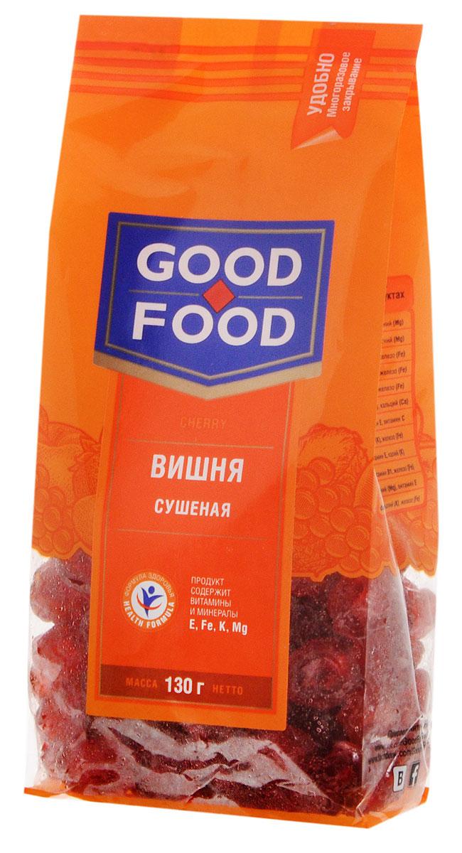 Good Food вишнясушеная,130г0120710Яркий вкус вишни - изысканная классика, к тому же забота о здоровье. Вишня - ценнейший источник витамина А и С.