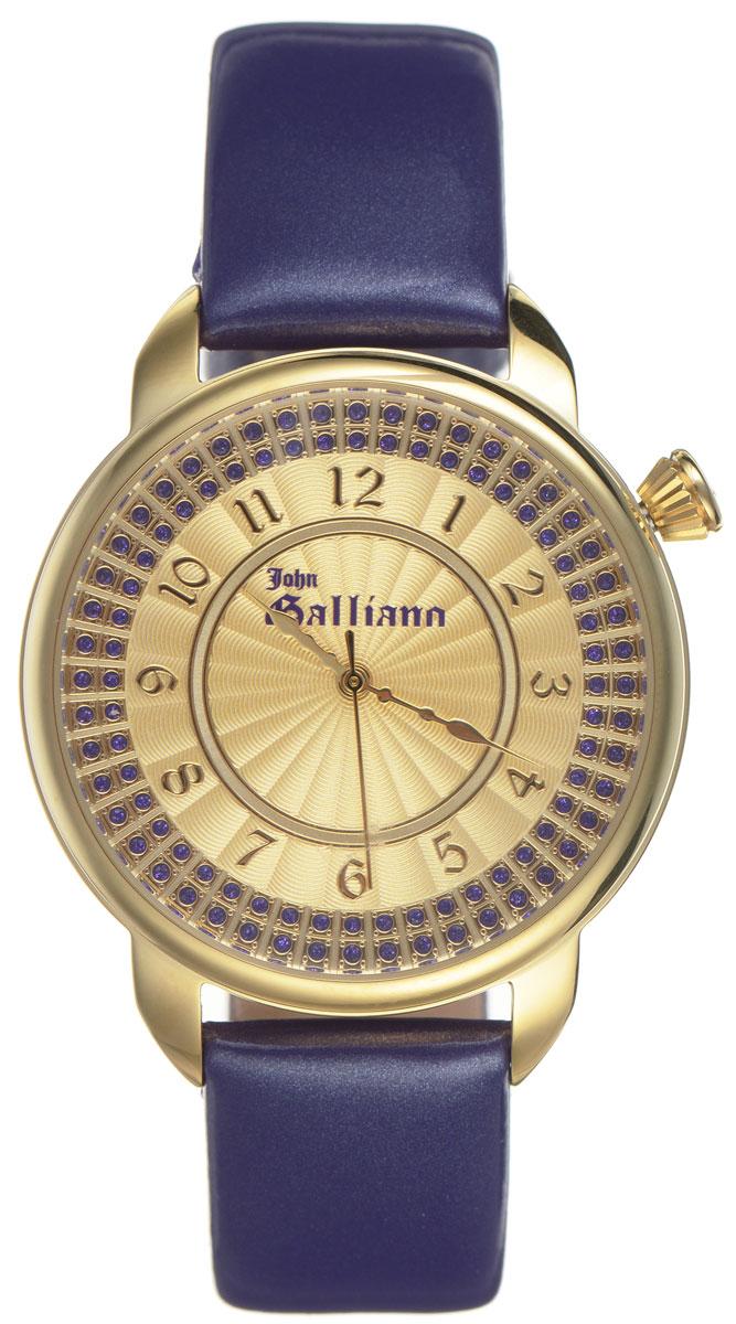 Часы наручные женские Galliano, цвет: фиолетовый. R2553126504R2553126504Наручные женские часы Galliano произведены из материалов самого высокого качества на базе новейших технологий. Они оснащены точным кварцевым механизмом. Корпус часов изготовлен из нержавеющей стали с PVD-покрытием, циферблат инкрустирован стразами и защищен минеральным стеклом. Ремешок выполнен из натуральной лаковой кожи и оснащен классической застежкой-пряжкой. Циферблат круглой формы оснащен арабскими цифрами, а так же тремя стрелками - часовой, минутной и секундной. Часы являются водостойкими - 3АТМ. Изделие укомплектовано в стильную фирменную коробку с названием бренда. Наручные часы Galliano созданы для современных девушек, которые не желают потерять свою индивидуальность в городской суете.