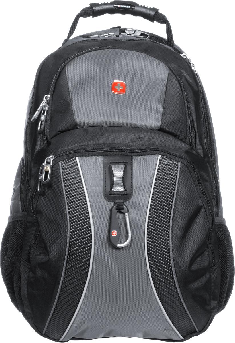 Рюкзак Wenger, цвет: черный, серый, 34 х 23 х 47 см, 36 лBP-001 BKРюкзак Wenger - это самодостаточный, многофункциональный и надежный спутник своего владельца, как и знаменитый швейцарский нож! Благодаря многофункциональности рюкзака Wenger, вы можете легко организовать свои вещи, отправив ключи, мобильный телефон и еще тысячу мелочей в специальный карман-органайзер, положив ноутбук в надежный мягкий карман под спинкой. После этого останется еще много места для других необходимых вещей. Рюкзаки и сумки Wenger - это прежде всего современные материалы и фурнитура от надежных поставщиков и швейцарский контроль качества, благодаря которому репутация компании была и остается столь высокой. Продуманная конструкция и современные технологии проявляются главным образом в потрясающей надежности рюкзаков и сумок Wenger. А ведь надежность - самое важное качество и в амуниции, и в людях! Особенности рюкзака: Петля для очков: эластичная петля на плечевом ремне позволяет удобно хранить солнцезащитные очки и обеспечивает легкий доступ к ним.Плечевые ремни: эргономичные ремни анатомической формы разработаны с дополнительным уплотнением для удобства и контроля.Карман для мелких предметов: внутренний карман-органайзер включает съемную ключницу и раздельные кармашки для ручек, карандашей, мобильного телефона и CD дисков.Карман для бутылки воды: карман из эластичной сетки удобен для хранения бутылок любого размера.Раскладываемое отделение для ноутбука: уникальный дизайн с сетчатым экраном, подходит для ноутбуков с размером экрана до 17. Отверстие для провода наушников: внутренний карман с отверстием для вывода наушников обеспечивает сохранность CD и МР3-плеера.