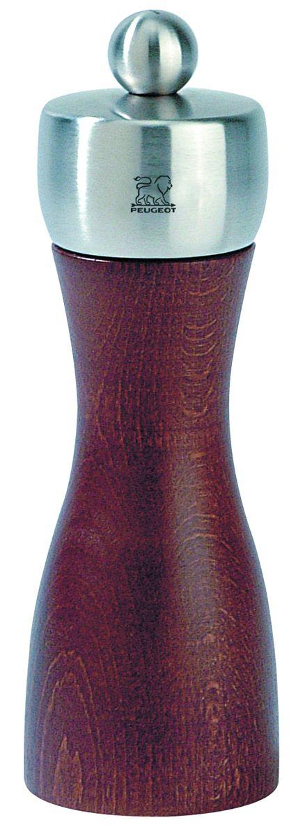 Мельница для соли Peugeot Fidji, цвет: красно-коричневый, серый, высота 15 см17101Мельница для соли Peugeot Fidji - отличное приспособление для приготовления блюд со свежемолотой солью. Выполнена из дерева и нержавеющей стали. Изделие оснащено двойным рядом винтообразных зубцов для захвата горошин и подачи их к основанию, а затем удержания их до безупречного помола. Эта уникальная система позволяет регулировать уровень помола. Зубцы имеют антикоррозионное покрытие.
