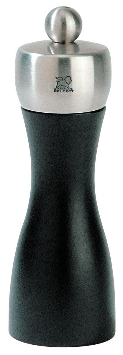 Мельница для перца Peugeot Fidji, цвет: черный, серый, высота 15 см17132Мельница для перца Peugeot Fidji - отличное приспособление для приготовления блюд со свежемолотым перцем. Выполнена из дерева и нержавеющей стали. Изделие оснащено двойным рядом винтообразных зубцов для захвата горошин и подачи их к основанию, а затем удержания их до безупречного помола. Эта уникальная система позволяет регулировать уровень помола. Зубцы имеют антикоррозионное покрытие.