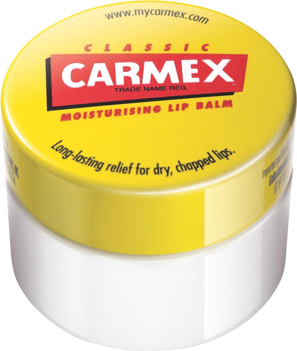 Carmex Бальзам для губ классический, баночка в блистере, 7,5 г00691СХУникальная формула CARMEX содержит специальные ингредиенты, которые вызывают ощущение покалывания - это означает, что CARMEX работает; увлажняя и защищая губы, делает их мягкими и здоровыми.