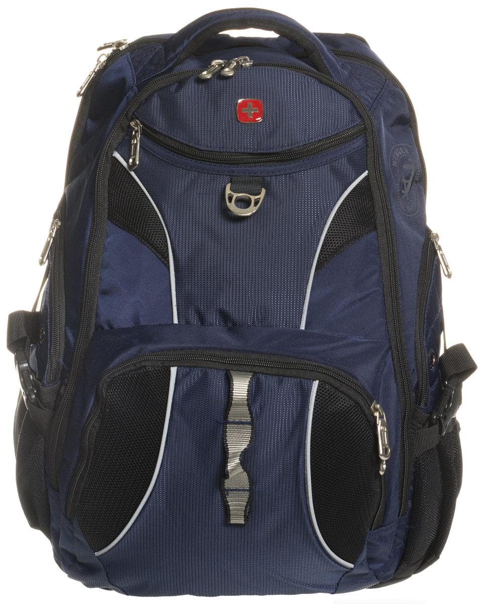 Рюкзак Wenger, цвет: синий, черный, 34 см х 17 см х 47 см, 26 л98673215Рюкзак Wenger - это самодостаточный, многофункциональный и надежный спутник своего владельца, как и знаменитый швейцарский нож! Благодаря многофункциональности рюкзака, вы можете легко организовать свои вещи, отправив ключи, мобильный телефон и еще тысячу мелочей в специальный карман-органайзер, положив ноутбук в надежный мягкий карман под спинкой. После этого останется еще много места для других необходимых вещей. Рюкзаки и сумки Wenger - это прежде всего современные материалы и фурнитура от надежных поставщиков и швейцарский контроль качества, благодаря которому репутация компании была и остается столь высокой. Продуманная конструкция и современные технологии проявляются главным образом в потрясающей надежности рюкзаков и сумок Wenger. А ведь надежность - самое важное качество и в амуниции, и в людях! Особенности: Отделение для ноутбука с диагональю экрана 15 дюймов. Отделение с карманом для планшетного компьютера с диагональю 9,7 дюймов, карманом для...