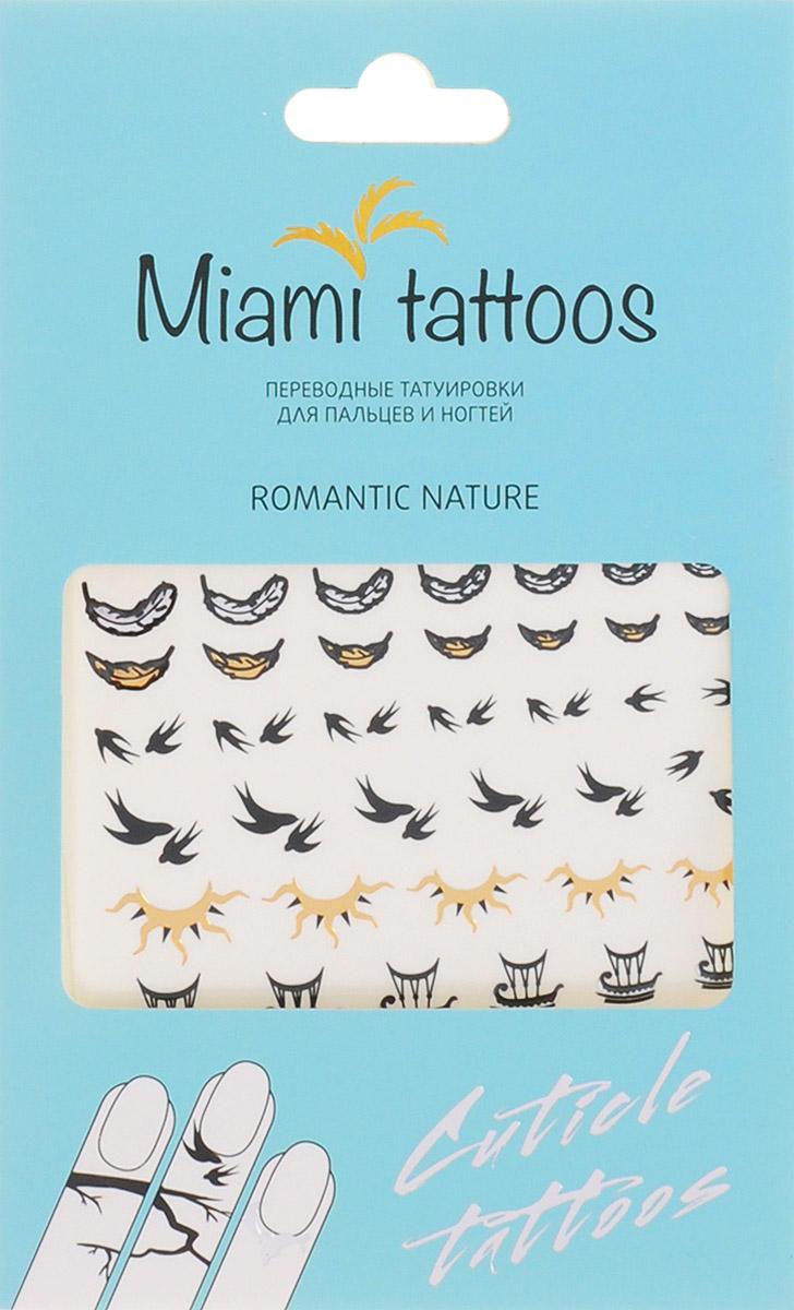 Miami Tattoos Флэш тату для пальцев и ногтей Miami Tattoos Romantic Nature 1 лист 10 см х 15 смMT0007Miami Tattoos - это дизайнерские переводные тату-украшения. Оригинальные тату для кутикул - это ультрамодное дополнение к вашему маникюру! Они не только эффектно смотрятся, но еще и визуально вытягивают ногти, делая их более изящными. Для производства Miami Tattoos используются только качественные,?яркие?и?стойкие?краски. Они?не вызывают аллергию и держатся?до семи?дней!