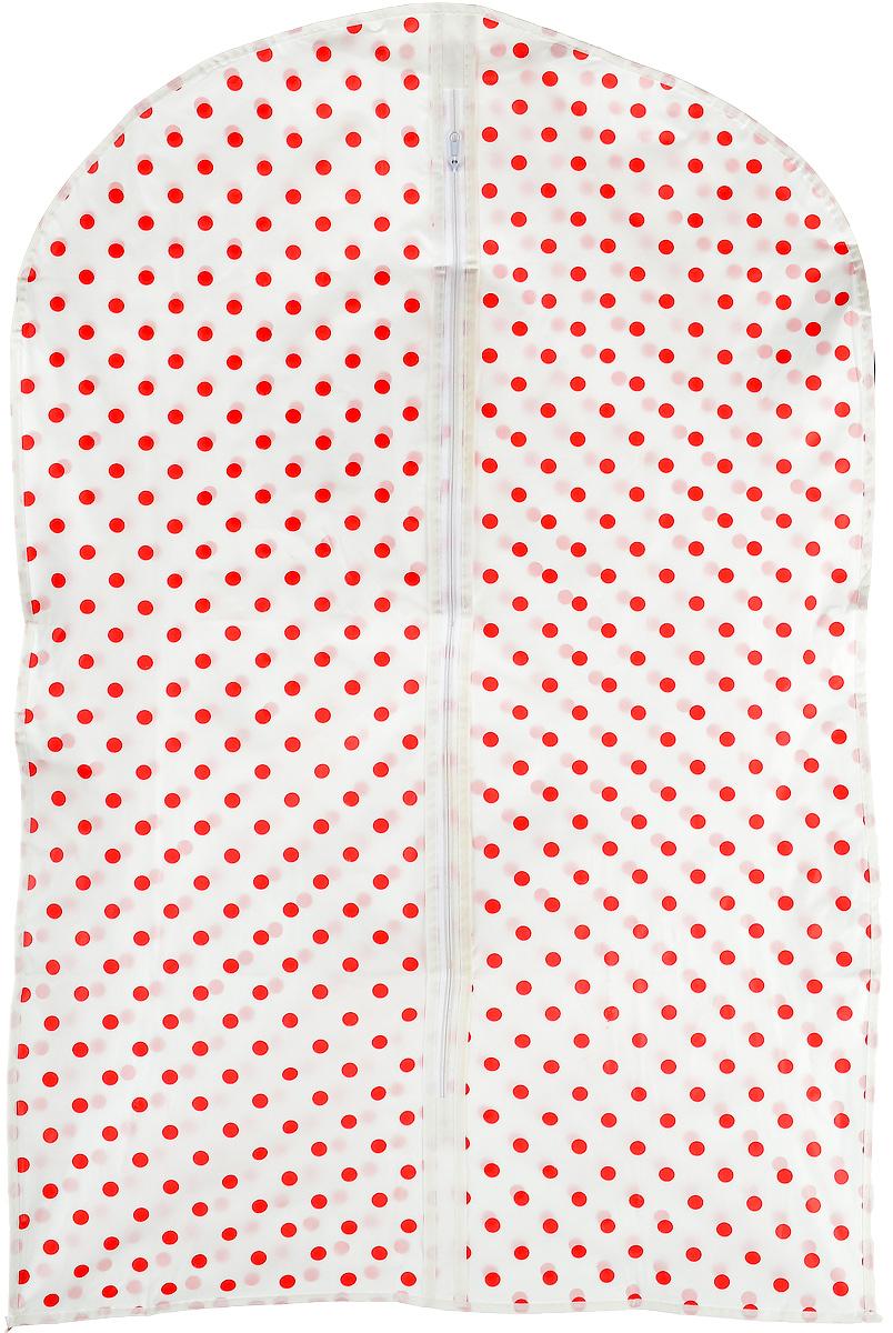 Чехол для хранения одежды Hemline, на молнии, 60 х 9 х 100 смMR4411Чехол для хранения одежды Hemline выполнен из специальной дышащей ткани (спанбонд), поэтому одежда вентилируется даже в течение долгого хранения. Изделие оснащено удобной и качественной молнией. Размер чехла: 60 х 9 х 100 см.