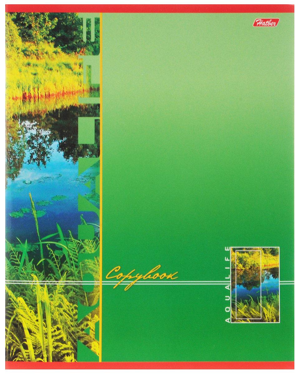 Hatber Тетрадь Аквалайф 80 листов в линейку цвет зеленый80Т5B2_зеленыйТетрадь в линейку Hatber Аквалайф предназначена для объемных записей и незаменима для старшеклассников и студентов. Обложка, выполненная из плотного мелованного картона, позволит сохранить тетрадь в аккуратном состоянии на протяжении всего времени использования. Лицевая сторона оформлена красочным изображением чистой речки и зеленой травы. Внутренний блок тетради, соединенный металлическими скрепками, состоит из 80 листов белой бумаги в голубую линейку с полями.