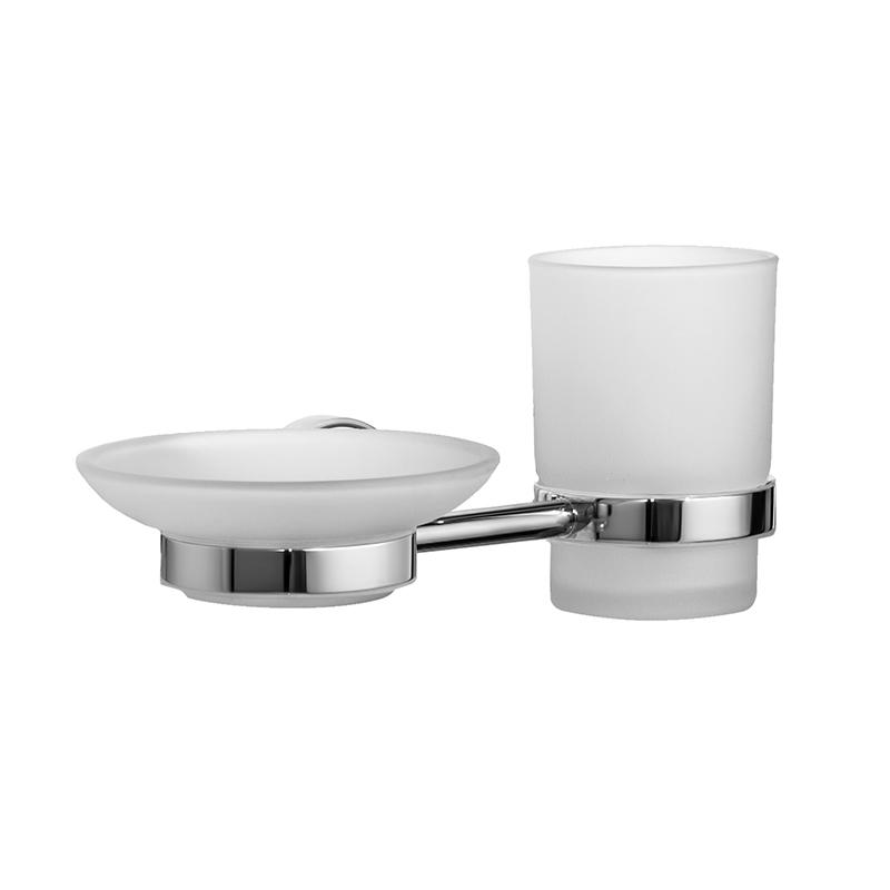 Набор аксессуаров для ванной комнаты Iddis Calipso, цвет: хромUP210DFНабор аксессуаров для ванной комнаты Iddis Calipso изготовлен из латуни и матового стекла белого цвета. Изделие превосходно дополнит интерьер ванной комнаты. Набор включает в себя стакан для зубных щеток и мыльницу.