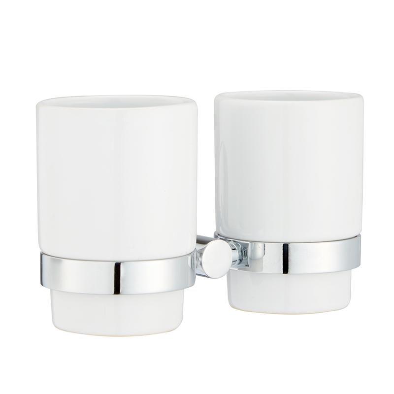 Стакан для зубных щеток Iddis Mirro Plus, двойной, цвет: хромUP210DFСтакан для зубных щеток Iddis Mirro Plus изготовлен из латуни и матового стекла белого цвета. Изделие превосходно дополнит интерьер ванной комнаты.