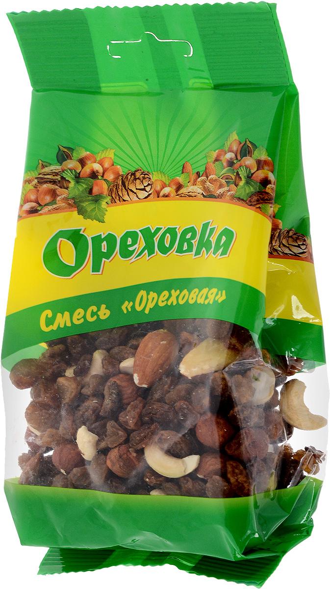 Ореховка смесь ореховая, 190 г4620000671060Отменный кешью, вкуснейший фундук и хрустящий миндаль образуют восхитительное ассорти, которое может стать вкусной составляющей сбалансированного питания благодаря высокому содержанию витамина Е и магния.