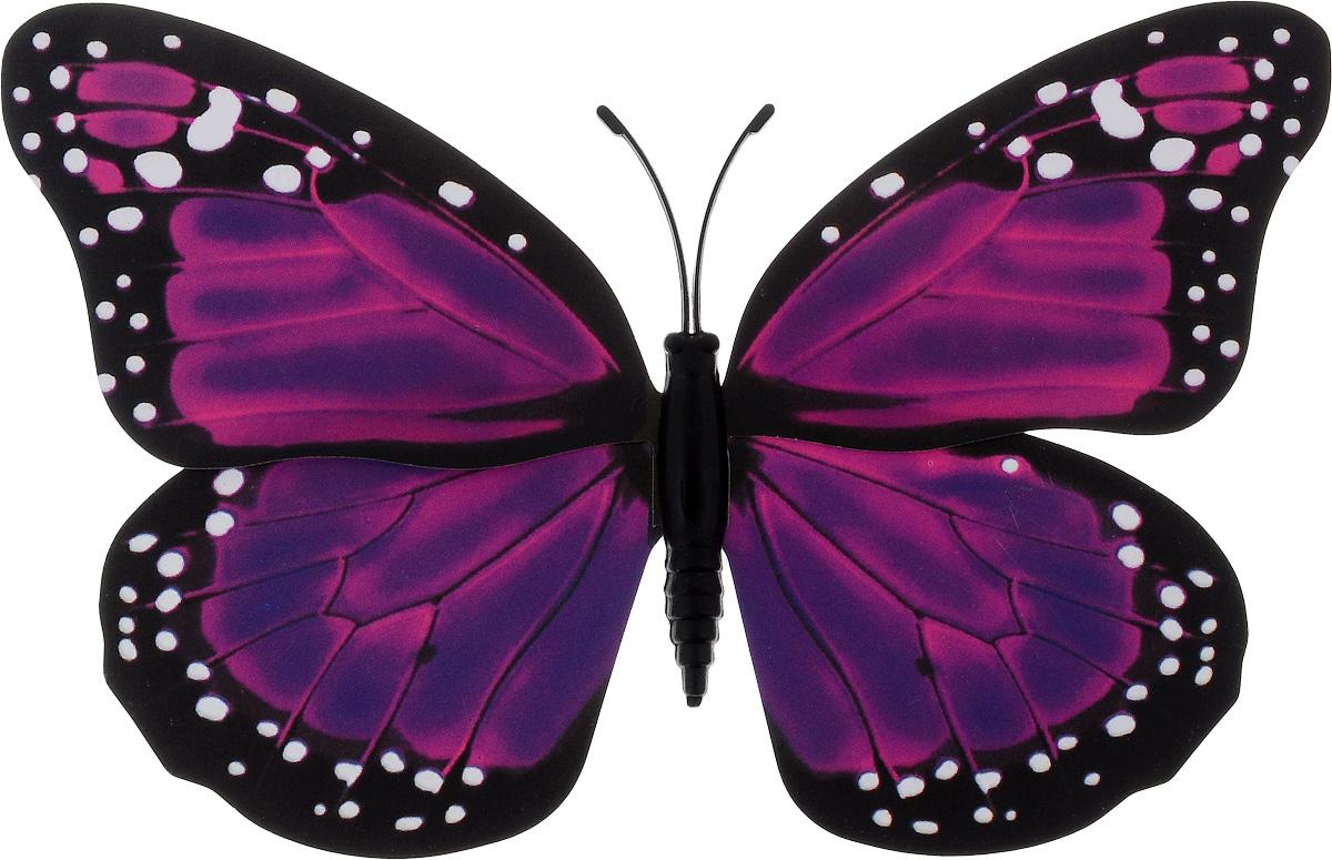 Фигура садовая Village people Тропическая бабочка, с магнитом, цвет: фиолетовый, черный, 11,5 х 9 смRSP-202SВетряная фигурка Village People Тропическая бабочка, изготовленная из ПВХ, это не только красивое украшение, но и замечательный способ отпугнуть птиц с грядок. При дуновении ветра бабочка начинает порхать крыльями. Изделие оснащено магнитом, с помощью которого вы сможете поместить его в любом удобном для вас месте. Яркий дизайн фигурки оживит ландшафт сада.