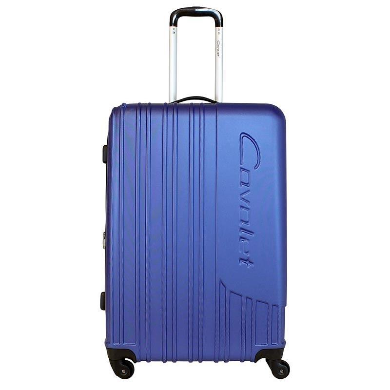 Чемодан-тележка Cavalet Malibu Luggage, 103+20 л, цвет: темно-синий. 858-70-70858-70-70Чемодан-тележка Cavalet на четырех колесах идеально подходит для поездок и путешествий. Корпус имеет жесткую конструкцию и выполнен из ударопрочного пластика. Чемодан имеет одно вместительное отделение для хранения одежды и аксессуаров, с возможностью увеличения объема. Отделение закрывается на застежку-молнию и замок. Внутри сетчатый карман на молнии и багажные ремни для фиксации. Внутренняя поверхность изделия отделана полиэстером. В верхней части чемодана предусмотрена ручка для переноски. На одной из боковых сторон - пластиковые ножки, на другой - дополнительная ручка для переноски. Чемодан оснащен удобной телескопической ручкой. Стильный и удобный чемодан-тележка Cavalet вместит все необходимые вещи и станет незаменимым аксессуаром во время поездок.