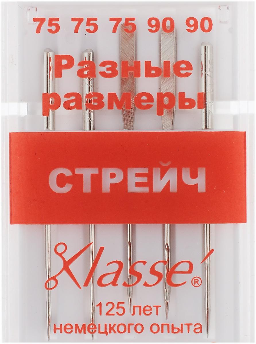 """Иглы для бытовых швейных машин """"Hemline"""", для стрейча, №75, 90, 5 шт A6120/MIX"""