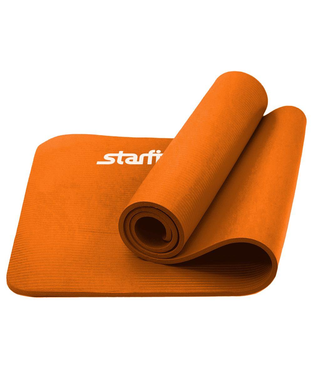Коврик для йоги Starfit, цвет: оранжевый, 183 x 58 x 1,5 смУТ-00008851Коврик для йоги FM-301 - это плотный коврик с одновременно мягким материалом NBR, который привлекает клиентов в сторону Star Fit. Коврик NBR Star Fit незаменимый аксессуар для любого спортсмена как во время тренировки, так и во время пре-стретчинга (растяжки до тренировки) и стретчинга (растяжки) после тренировки. Коврики NBR Star Fit используются в фитнесе, йоге, функциональном тренинге. Их используют спортсмены различных видов спорта в своем тренировочном процессе. Предпочтительно использовать без обуви. Если в обуви, то с мягкой подошвой, чтобы избежать разрыва поверхности коврика. Люди, занимающиеся медитацией, также делают выбор в пользу Star Fit. Характеристики: Тип: коврик для йоги и фитнеса Материал: NBR (Бутадиен-нитрильный каучук) Длина, см: 183 Ширина, см: 58 Толщина, см: 1,5 Цвет: оранжевый Количество в упаковке, шт: 1 Производитель: КНР