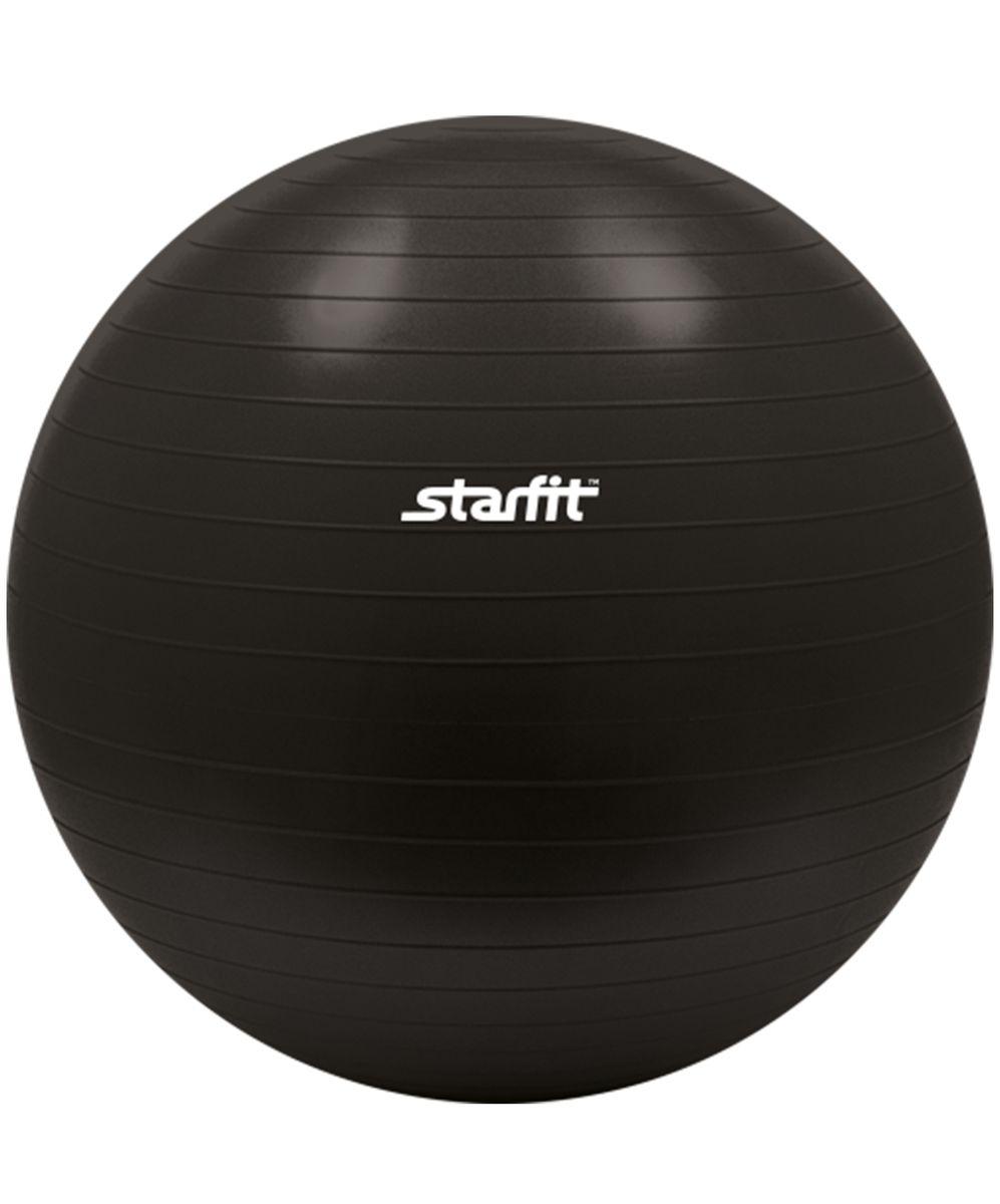 """Мяч гимнастический """"Starfit"""", антивзрыв, цвет: черный, диаметр 75 см УТ-00008859"""