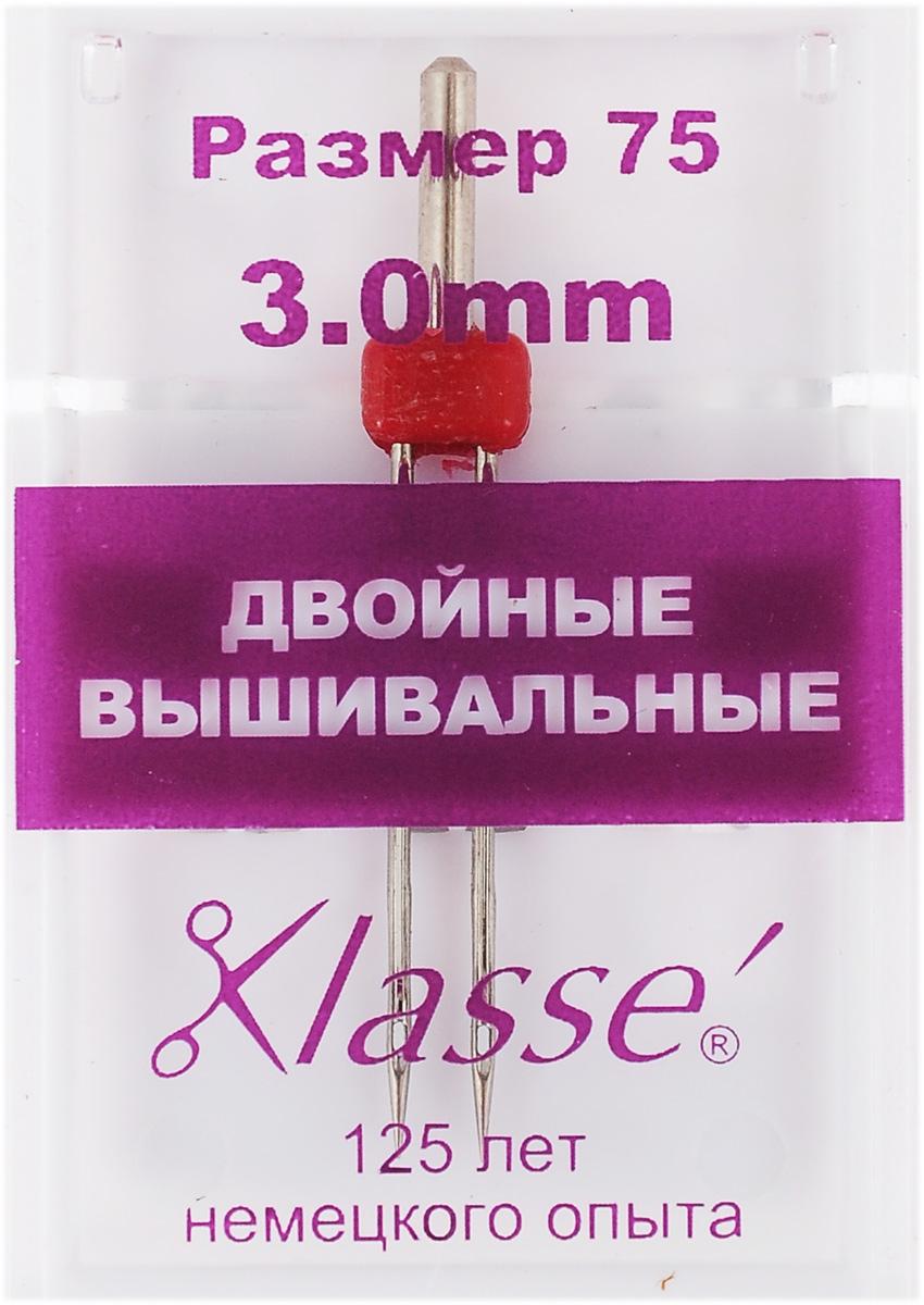 Игла для бытовых швейных машин Hemline, вышивальная, двойная, №75, 3 ммA6158/3.0Двойная игла Hemline предназначена для финишной отделки отстрочкой после вышивания нитками район или полиэстер на различных нетолстых тканях. Более крупное ушко иглы разработано специально для вышивальных ниток, кроме того нить очень легко вдеть в иглу. Используйте пониженную скорость при работе. В комплекте пластиковый футляр для переноски и хранения. Размер: 75. Расстояние между иглами: 3 мм.
