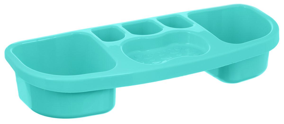 Полка для ванной комнаты Альтернатива, цвет: мятный, 39 х 14,5 х 7,5 смМ1794_мятныйНастенная полка для ванной комнаты Альтернатива, выполненная из высококачественного пластика, имеет компактный, хорошо продуманный размер, благодаря чему на ней удобно разместятся все ваши аксессуары для принятия ванны. Подходит для всех типов гладких поверхностей.