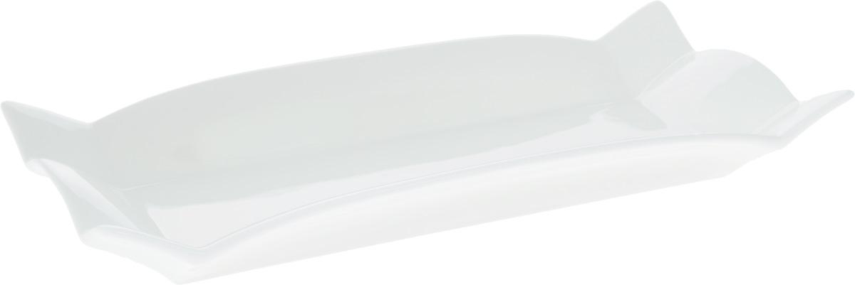 Блюдо Wilmax, прямоугольное, 32 х 15 смWL-992583 / AБлюдо Wilmax прямоугольной формы изготовлено из высококачественного фарфора, покрытого слоем глазури. Изделие предназначено для подачи горячих блюд, нарезок, закусок, а также различных сладостей. Такое блюдо пригодится в любом хозяйстве, оно подойдет как для праздничного стола, так и для повседневного использования. Блюдо функциональное, практичное и легкое в уходе. Изделие можно мыть в посудомоечной машине и ставить в микроволновую печь.