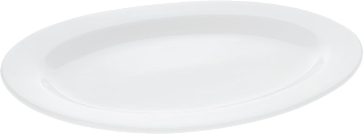 Блюдо Wilmax, 36 х 26 см115510Блюдо Wilmax, изготовленное из высококачественного фарфора, имеет овальную форму. Оригинальный дизайн придется по вкусу и ценителям классики, и тем, кто предпочитает утонченность и изысканность. Блюдо Wilmax идеально подойдет для сервировки стола и станет отличным подарком к любому празднику.Размер блюда (по верхнему краю): 36 х 26 см.