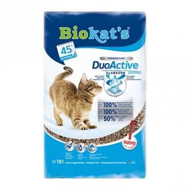 Наполнитель для кошачьего туалета Biokats DuoActive Classic, комкующийся, 10 л0120710Комкующийся наполнитель для кошачьего туалета Biokats DuoActive Classic. Новое поколение наполнителей для кошачьего туалета. Инновация! Первый наполнитель из натуральной глины с растительными волокнами. Наличие растительных волокон позволяет устранять до 100 % неприятных запахов, которые не может поглотить глина.