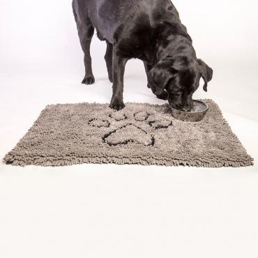 Коврик супервпитывающий Dog Gone Smart Dirty Dog Doormat, цвет: серый, 51 х 79 см4680265019564Dog Gone Smart Doormat Dog Doormat - это не просто коврик! Его можно использовать в машине, клетке, в качестве подстилки под миски с едой и водой, или просто в качестве места для отдыха вашего питомца! Запатентованные технологии позволяют защитить пол, мебель и сиденья автомобиля от нежелательной шерсти, грязи и слюней! Беспорядок останется на коврике! Супер абсорбирующий материал! Передовые технологии, задействованные в производстве микрофибры, позволяют впитывать воду и грязь моментально! Миллионы ворсинок микрофибры создают эффект огромной супер-губки! Что это дает: Впитывает объем воды и грязи до 7 раз больше своего веса; Оставляет полы чистыми и сухими; Сохнет в 5 раз быстрее обыкновенных ковриков; После высыхания – легко вытряхивается; Очень мягкий; Износостойкий; Нескользящая оборотная сторона; Прост в уходе; Использовать можно в любом месте.