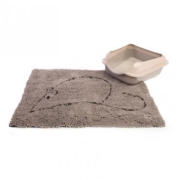 Коврик для кошек Dog Gone Smart, цвет: серый, 51 х 79 см4680265019595Супервпитывающий коврик Dog Gone Smart для кошек изготовлен из микрофибры, созданной по новейшим технологиям, впитывает огромное количество воды, очень быстро сохнет. Коврик сохраняет чистоту полов в вашем доме и помогает поддерживать гигиену. Нижняя сторона коврика изготовлена из резины, что позволяет фиксировать его в нужном месте. Этот супервпитывающий коврик универсален: - можно использовать в клетке, как место отдыха питомца, так как он очень мягкий и приятный на ощупь; - в качестве коврика под миски, благодаря чему полы возле мисок всегда будут чистыми и сухими; - в качестве коврика возле лотка, благодаря чему остатки наполнителя не будут разносится по дому, а будут оставаться на коврике; - в качестве коврика у входной двери. ...
