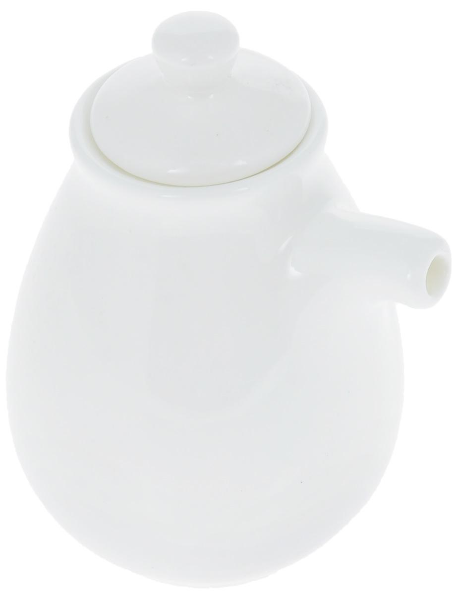 Бутылка для соуса Wilmax, 170 млVT-1520(SR)Бутылка для соуса Wilmax изготовлена из высококачественного фарфора, покрытого глазурью. Изделие предназначено для хранения соусов, имеет удобный носик и крышку. Такая бутылка для соуса пригодится в любом хозяйстве, она подойдет как для праздничного стола, так и для повседневного использования. Изделие функциональное, практичное и легкое в уходе. Диаметр (по верхнему краю): 4 см. Высота бутылки (без учета крышки): 8 см.