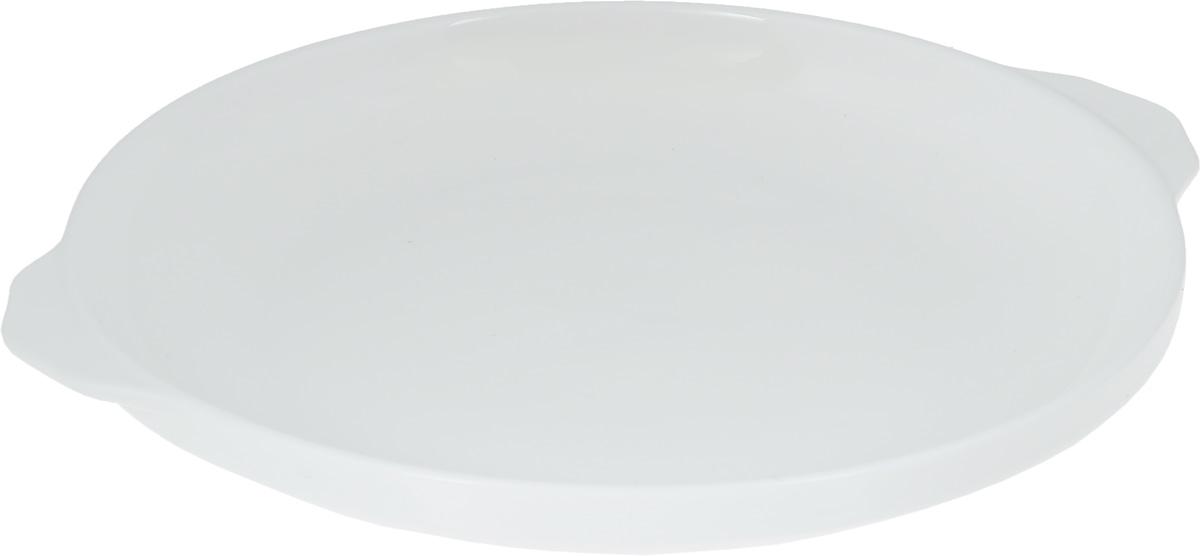 Блюдо Wilmax, диаметр 25,5 смCM000001328Оригинальное блюдо Wilmax, изготовленное из высококачественного фарфора, оснащено двумя удобными ручками. Изделие прекрасно подойдет для порционной подачи нарезок, закусок и других блюд. Блюдо Wilmax украсит ваш кухонный стол, а также станет замечательным подарком к любому празднику. Ширина блюда (с учетом ручек): 27 см.Диаметр блюда (по верхнему краю): 25,5 см.