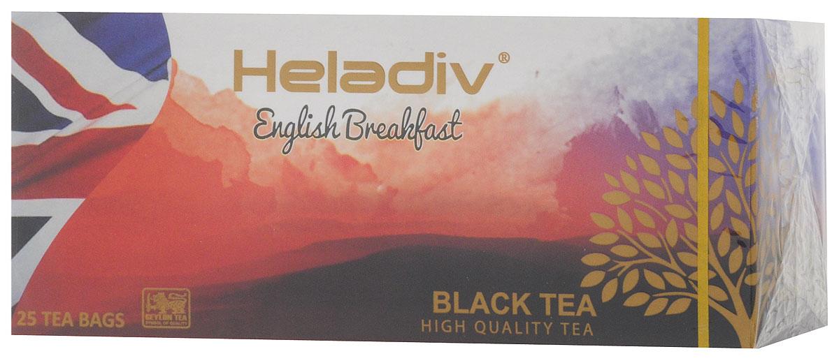 Heladiv English Breakfast чай черный в пакетиках, 25 шт4791007008279Heladiv English Breakfast - высокогорный элитный чай, классического вкуса и аромата. Этот крепкий и бодрящий по вкусу напиток прекрасно пробуждает от сна.