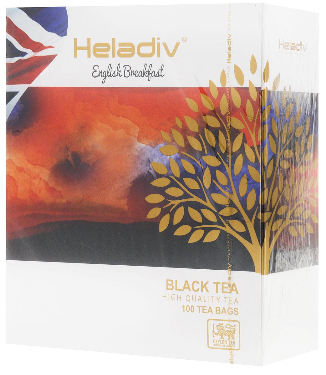 Heladiv English Breakfast чай черный в пакетиках, 100 шт4791007008767Heladiv English Breakfast - высокогорный элитный чай, классического вкуса и аромата. Этот крепкий и бодрящий по вкусу напиток прекрасно пробуждает от сна.
