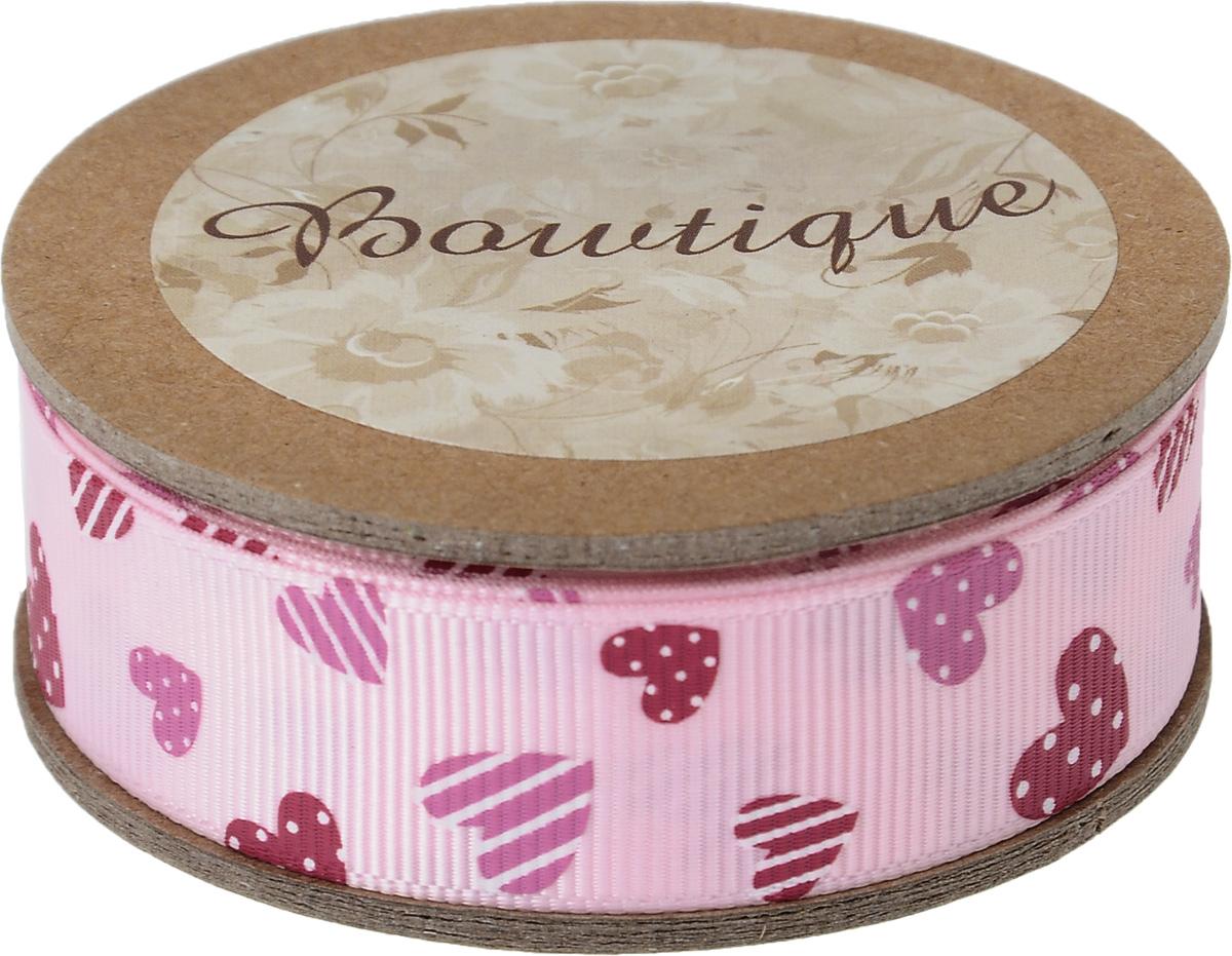 Лента репсовая Hemline Сердечки, цвет: розовый, красный, 2 х 500 см09840-20.000.00Репсовая лента Hemline Сердечки выполнена из полиэстера. Она жесткая и хорошо держит форму. Такая лента идеально подойдет для оформления различных творческих работ, может использоваться для скрапбукинга, создания аппликаций, декора коробок и открыток, часто ее применяют при пошиве одежды, сумок, аксессуаров. Лента наивысшего качества практична в использовании. Она станет незаменимым элементом в создании вашего рукотворного шедевра.