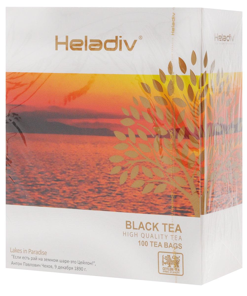 Heladiv Black Tea чай черный в пакетиках, 100 шт101246Элитный чай Heladiv Black Tea, собранный высоко в горах, обладает классическим вкусом и ароматом.